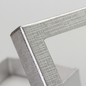 Image 5 - Caja expositora de joyería de 7x9 cm, 60 unids/lote, caja de regalo para pendientes de collar de cartón plateado, Cajas de Regalo de embalaje con esponja blanca