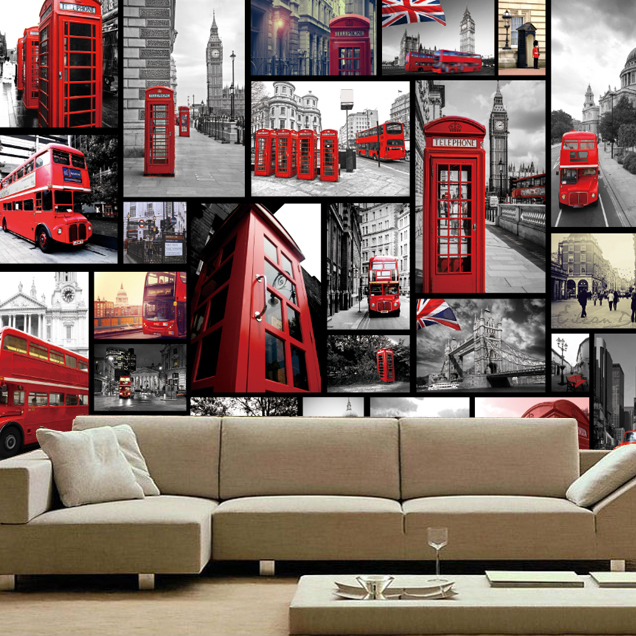 ФОТО European fashion large mural wallpaper nostalgic vintage wall paper personalized ktv wallpaper photo murals