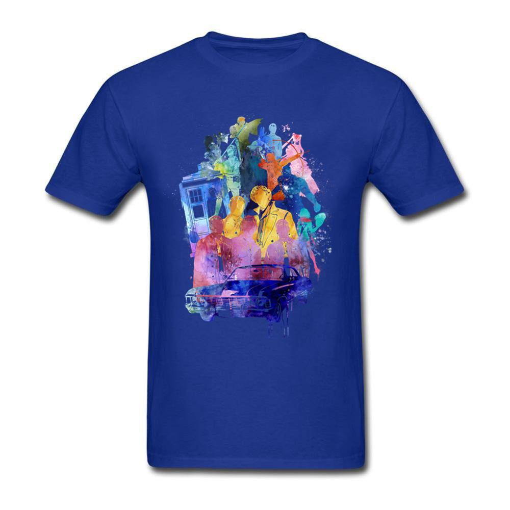 Multi Fandom Collage Doctor Who T Shirt Short Sleeve Brand-clothing New Style Swag Cotton Funny T Shirts Discount