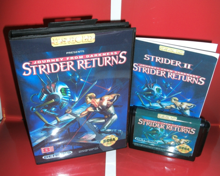 Strider 2 - Strider Returns - MD Game Cartridge with box and manual for 16 bit Megadrive Genesis console