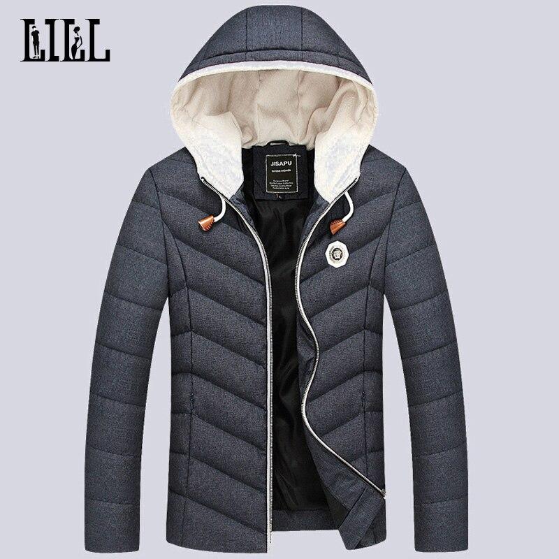 2016 Kış Erkek Aşağı Ceketler Erkekler Termal Nefes Kalın Pamuk Kat Bahar Giyim Rahat Erkek Tüy Ceket 5XL, UMA307