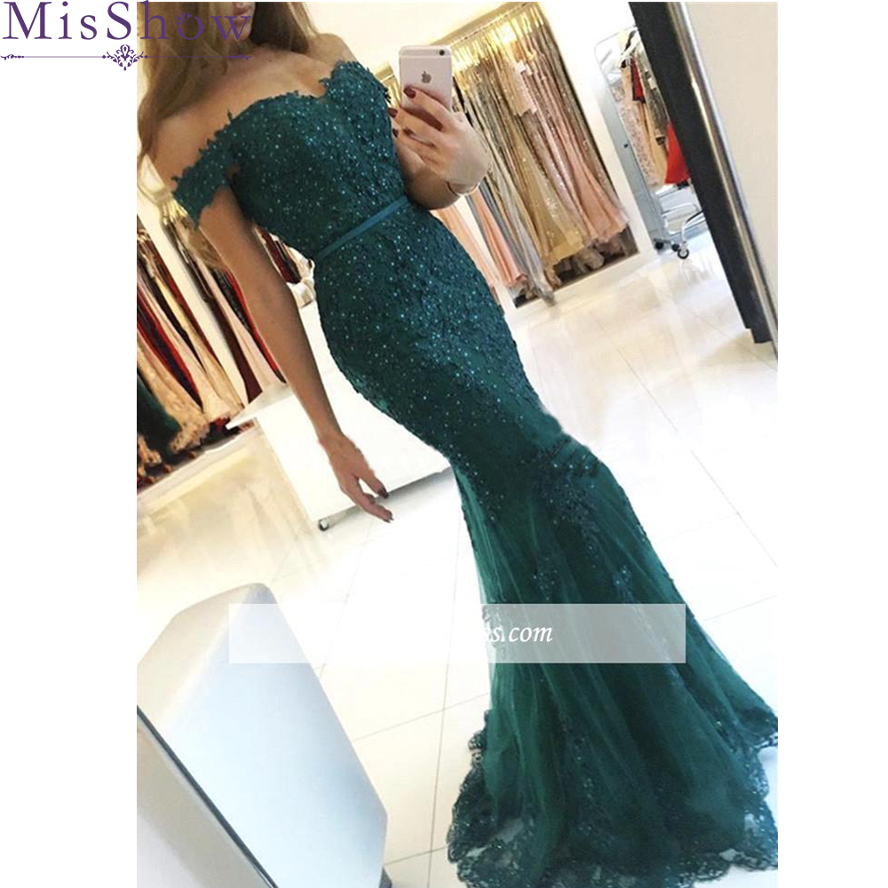 2019 Vestido De Festa Longo Mermaid Lace Top Bodice Slim Line Long Mermaid   Bridesmaid     Dresses   Charming Wedding Party Gowns New