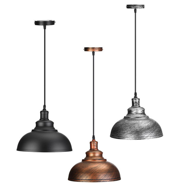 Industrial Vintage Edison Light Cover Lampshade E27 Retro Lamp Base Loft Iron Pendant Lights Holder Lighting