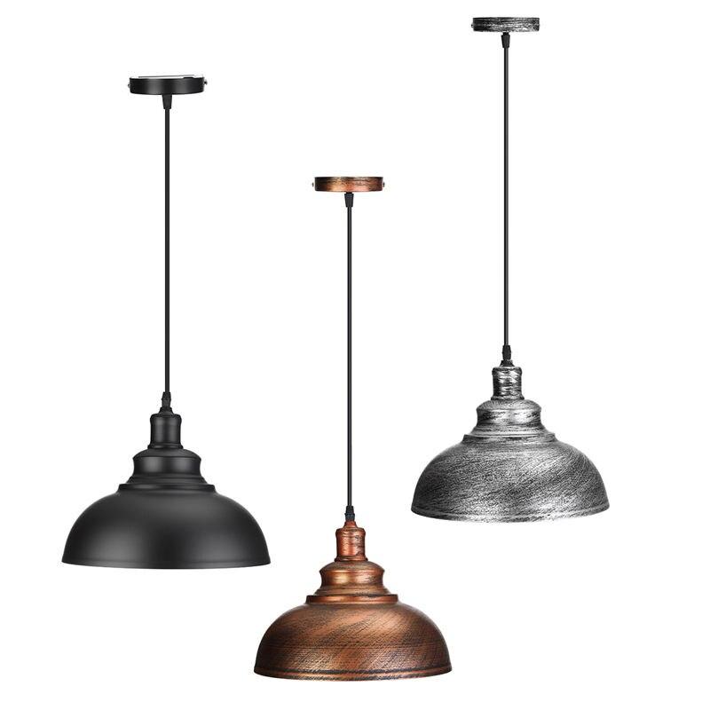Industrial Vintage Edison Light Cover Lampshade E27 Retro Lamp Base Loft Iron Pendant Lights Holder <font><b>Lighting</b></font> Fixture