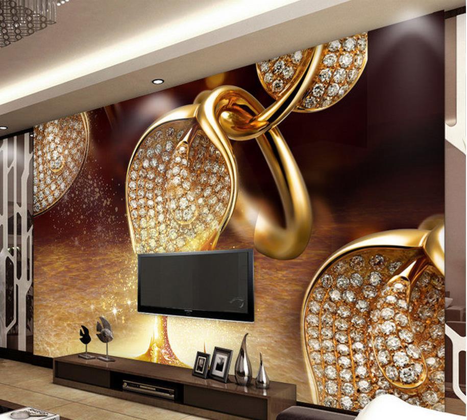 Home Design 3d Gold Import: Custom 3d Wallpaper Gold Calla Diamond Jewelry Backdrop