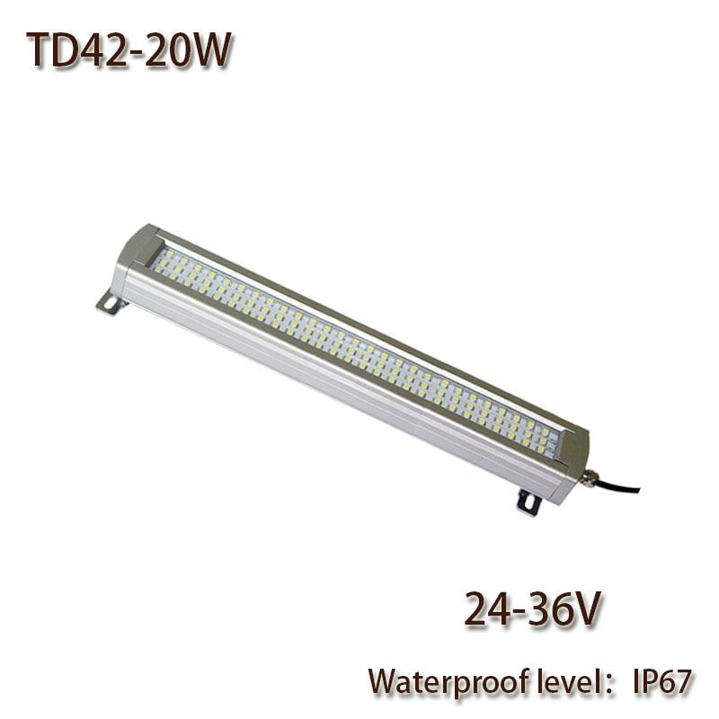 HNTD 20 วัตต์ DC 24 โวลต์นำแสงทำงานระเบิดกันน้ำ IP67 TD42 นำแสงแผงเครื่อง CNC เครื่องมือแสงจัดส่งฟรี