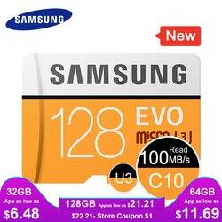 SAMSUNG Micro SD Memory Card 16GB 32G 64G 128G 256 MicroSD Cards SDHC SDXC Max 95Ms EVO 32GB 64GB C10 TF Trans Flash Micro Card