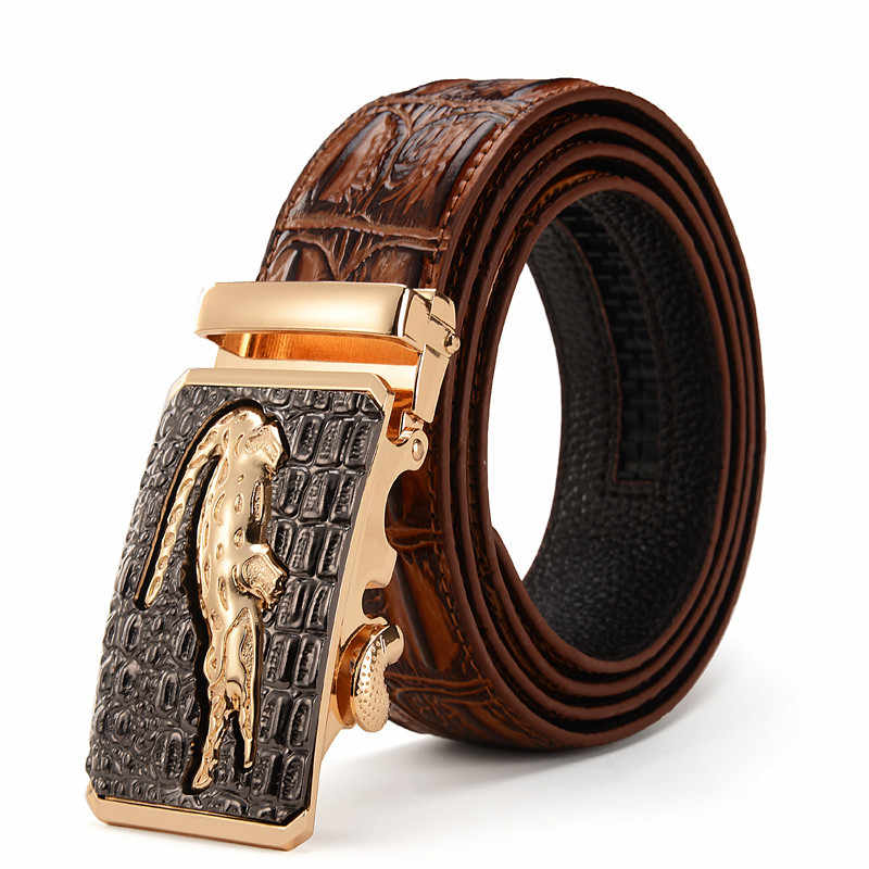 Men High Quality Genuine Leather belts luxury Brand Silver Gold Ceinture mens crocodile belts designer cinturones para hombre