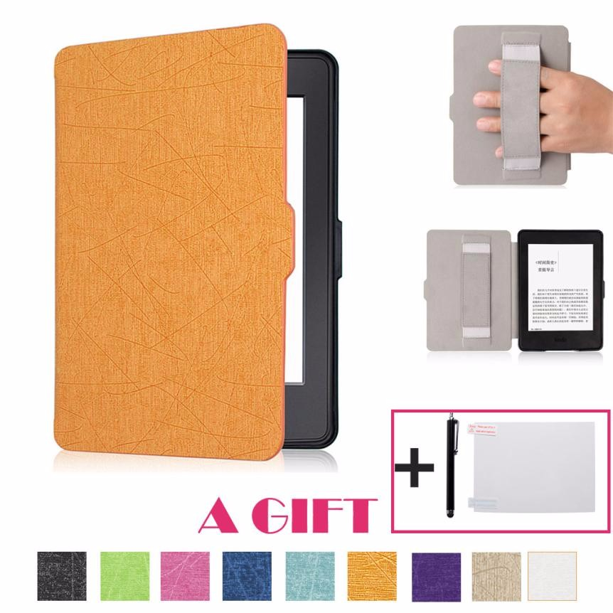 Slim Leather Case Smart Cover For Amazon Kindle Paperwhite Sleep/Wake new cover for amazon kindle paperwhite slim pu flip leather case cover wake sleep function with pen high quality