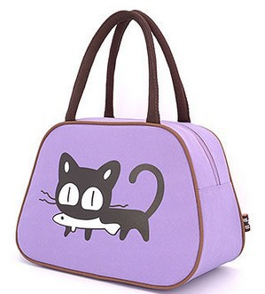 Sale cute insulated cartoon oxford lunch bag for women kids lunchbags tote with zipper cooler lunch