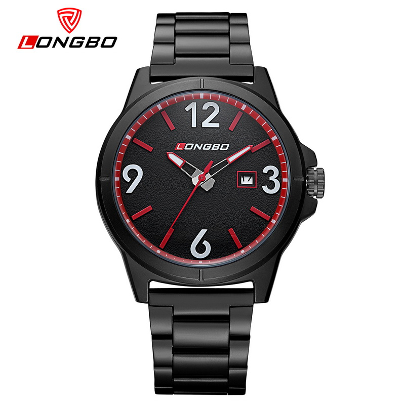 LONGBO Sports Quartz Watch Men Business Stainless Steel Waterproof Wristwatches Mens Reloj Hombre Relogio Masculino Drop Ship