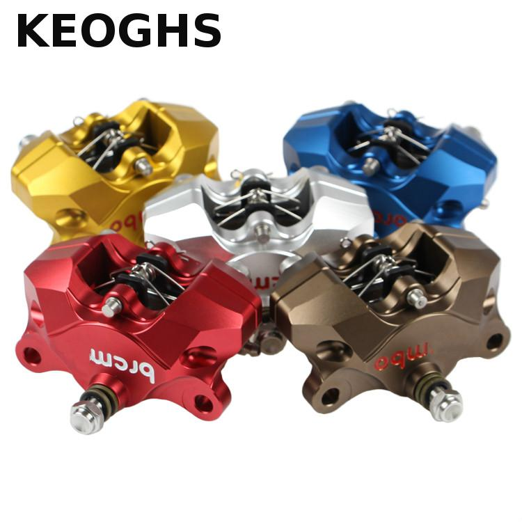 цена Keoghs Motorcycle Cnc Brake Caliper 34mm 2 Piston 84mm Hole To Hole Install Rear Brake Pumb For Honda Yamaha Ducati Aprilia