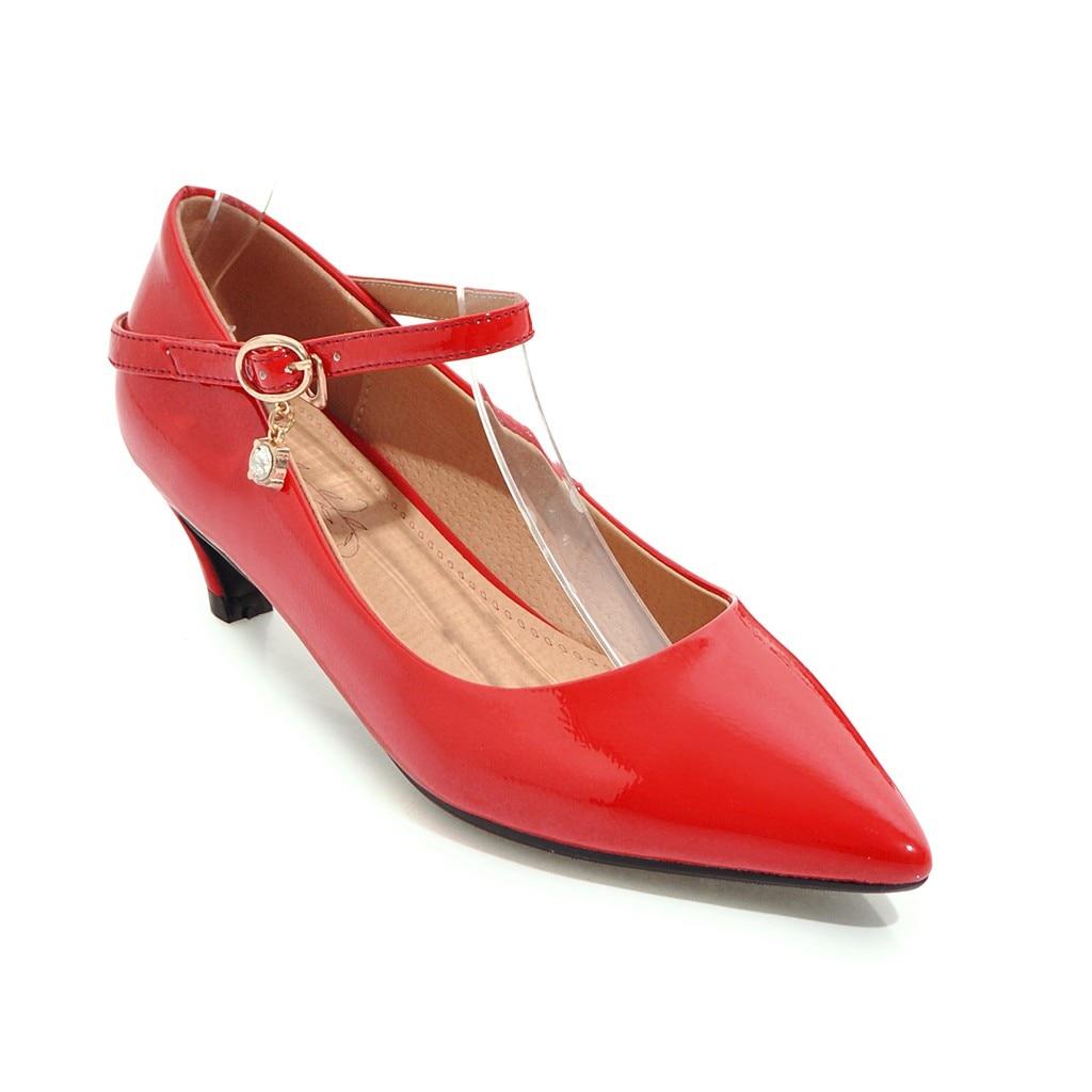 43 Tacones Bombas Estrecha Negro 33 Altos Zapatos Superficial Ldhzxc Nuevas Grandes 12 rojo Dulce blanco 10 Cómodo Moda 11 Mujeres 2018 Tamaño Punta ztO7x