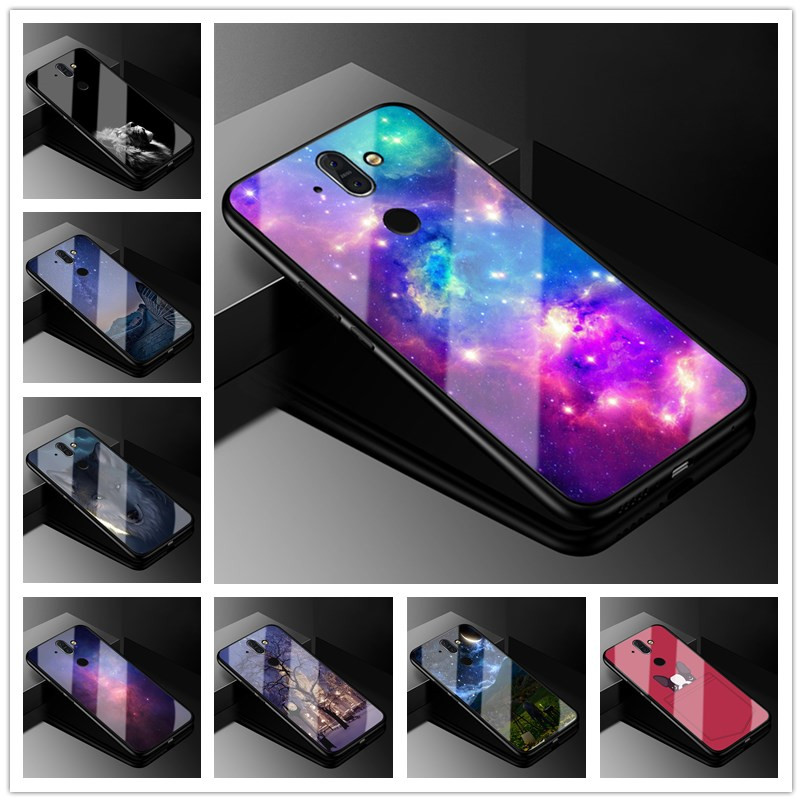 For Nokia 8 Sirocco Case Tempered Glass Hard Back cover phone case For Nokia 8 Sirocco 8Sirocco covers soft bumper 5.5 inch