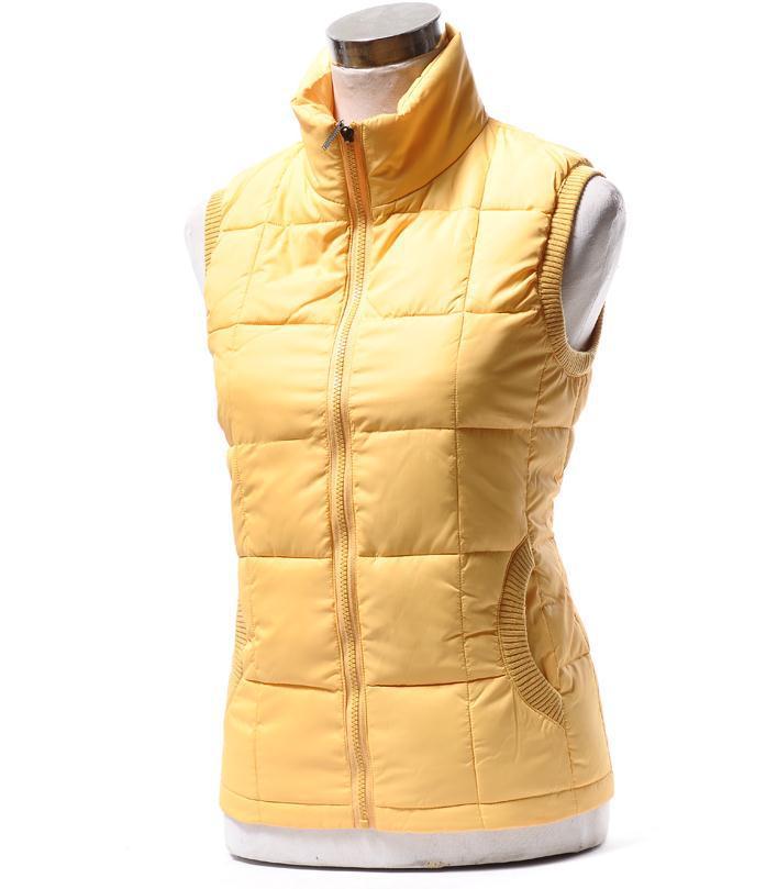 Autumn winter women cotton vest collar warm down coat ...