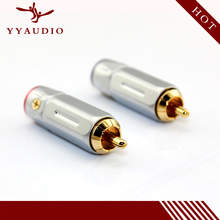 YYAUDIO USA Liton Pure Copper Gold Plated RCA Adapter 4pcs