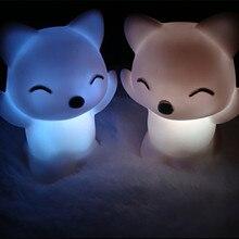 7 Changing Colors night light Lovely Fox Shape LED Night Light  goku kamehameha lamp lava lamp