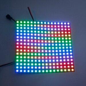 Image 5 - Matriz 16*16 pixel 256 pixels ws2812b ws2812 digital flexível led painel individualmente endereçável 5050 rgb sonho completo cor dc5v