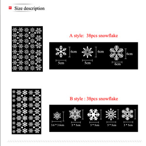 Image 3 - 38 pcs/lot snowflake electrostatic Sticker Window Kids room Christmas Wall Stickers Home Decals Decoration New Year wallpaper