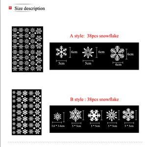 Image 3 - 38 sztuk/partia snowflake naklejki elektrostatyczne okno dzieci pokój boże narodzenie naklejki ścienne naklejki do domu dekoracje nowy rok tapety