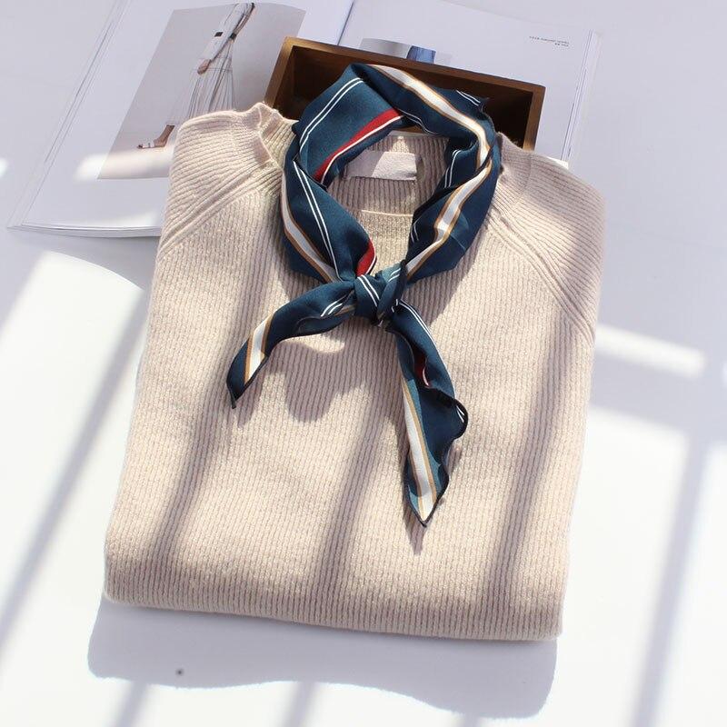 85*33cm Wild Striped Print Triangle Scarves Soft Comfortable Fashion Headband Decorative ...