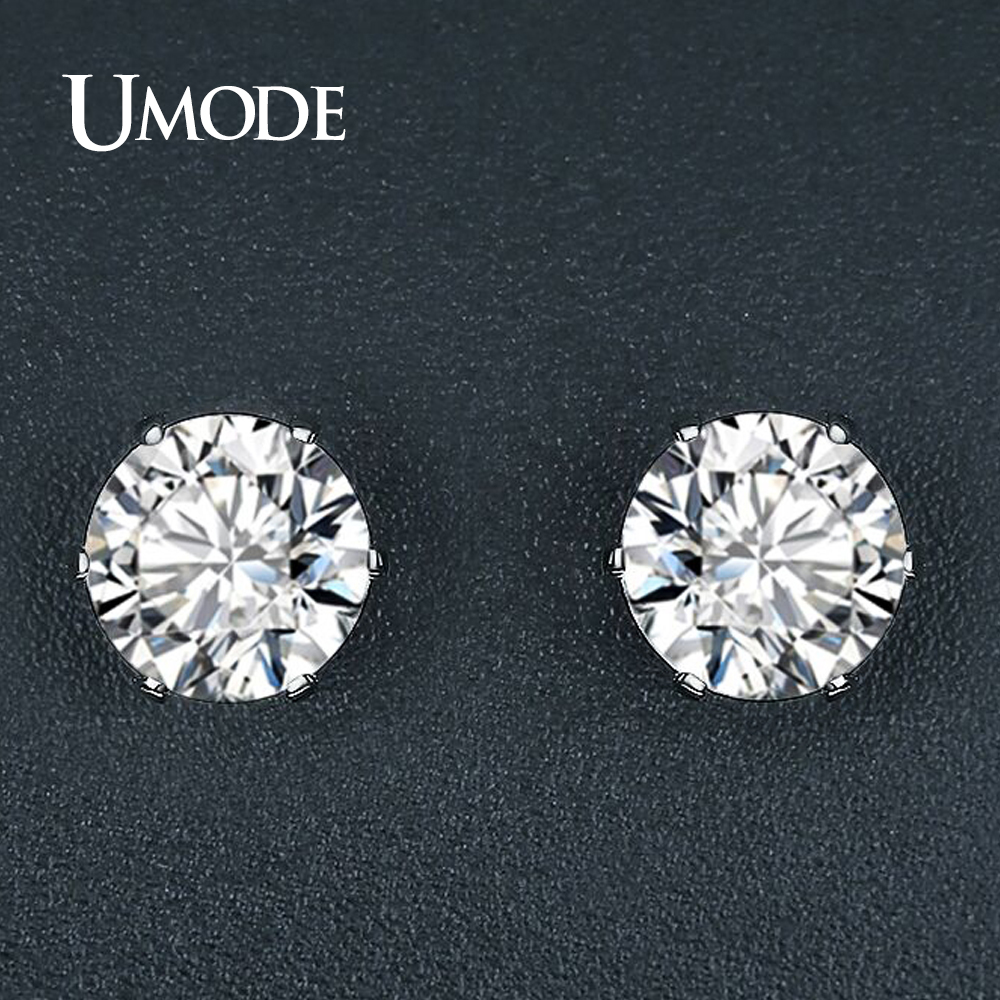 629205d9563 Detail Feedback Questions about UMODE Simple Design Trendy Fashion CZ  Crystal Stud Earrings for Women Party Wedding Jewelry Gift Oorbellen Voor  Vrouwen ...