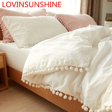 LOVINSUNSHINE ผ้านวมผ้าคลุมเตียง Queen ผ้านวมขนาด King Size ชุดเครื่องนอนเตียงคู่ AS01 #