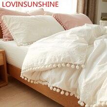 LOVINSUNSHINE пододеяльник для двуспальной кровати Стёганое одеяло крышка комплект плед королевского размера постельного белья двойной AS01 #
