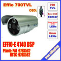 2014 direct selling sale mini bullet camera sony effio 700 tvl three lamps array led infrared osd menu  waterproof ir 20m c571h