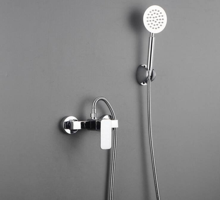 Copper wall mounted shower faucet shower head set, Bathroom solar ...