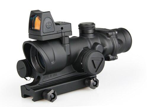 Тактический ACOG 4x32 светодиодный область HD прицел подсветкой прицел с рефлекс Регулируемый мин Красный точка зрения