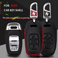 New Car Smart Shell Leather Key Case Covers KeyChain The waist buckle For Audi A3 A4 A6 A7 A8L B6 Q5 Q7 Car Accessories Wallet