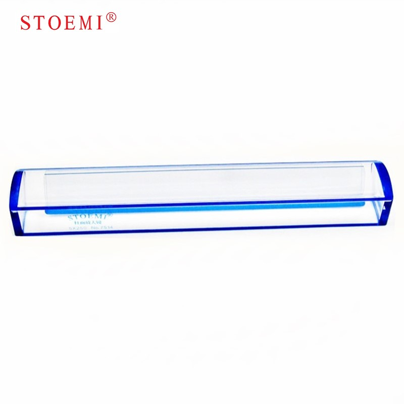 Stoemi 10 Inch 5X Blue Raised Domed Bar Magnifier 7514B W/ Reading Tracking Line Optical Tool Bar Magnifying Glass