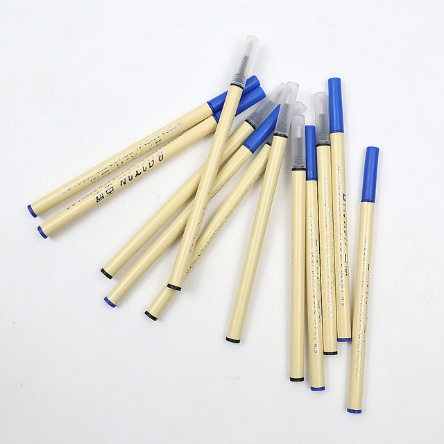 6Pcs High Quality 0.5mm Nib Ballpoint Pen Refills 11cm Length Writing Point Blue Black Ink Ball Pen Refills Rods 1