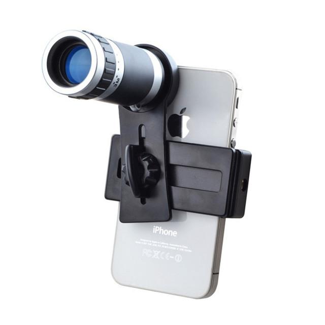 Clip Universal 8X Zoom Lente Telefoto Con Lentes de Teléfono Móvil Trípode para iphone 5s 6 samsung huawei lg asus xiaomi redmi note