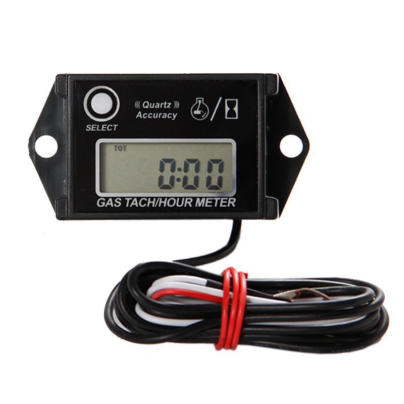 Free Shipping! Gasoline engine tachometer Hour Meter for ATV motorcycle snowmobile marine boat jet ski engine UTV lawn mower