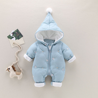 Baby romper 2018 spring and autumn winter thickening newborn out of the clothes quilted clothes men and women baby winter clothe