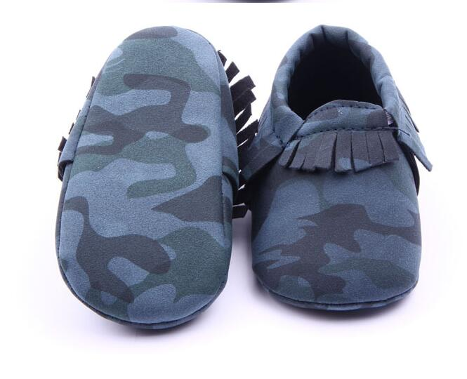 bfbeab3e0cc02 New Camo Leopard Style Infant Toddler Boys Girls shoes First Walkers fringe  Newborn Baby Moccasins Soft Moccs Shoes-in First Walkers from Mother & Kids  on ...