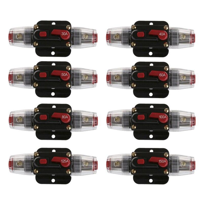Car Audio de 150/80 Amp Disyuntor Interruptor de Rearme Manual Fusibles Agu Port