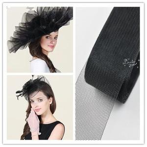 Image 5 - 3cm 8cm Colour Horsehair Braid Mesh  Fabric Wedding Fascinator Crinoline For dress Hats Accessories  Soft Hard  for pick