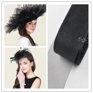 Image 5 - 3cm 8cm kolor splot z włosia końskiego siateczkowa tkanina fascynator ślubny krynolina do sukni kapelusze akcesoria miękkie twarde do wyboru
