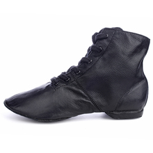 High Quality Adult Jazz Dance Shoes Lace-up Ballroom Dance shoes Women's/Men's Profession Genuine Leather Jazz Boots
