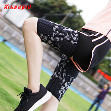 Kuangmi 1 Piece High Elasticity Thigh Guard Leg Support Cycling Football Riding Sports Breathable Compression Protect Warmer