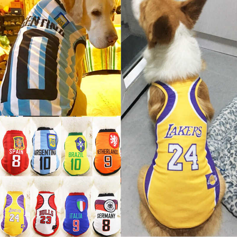 Spring and summer new big dog football vest jerseys samoye mesh coat  comfortable breathable large dog 8c55580fd
