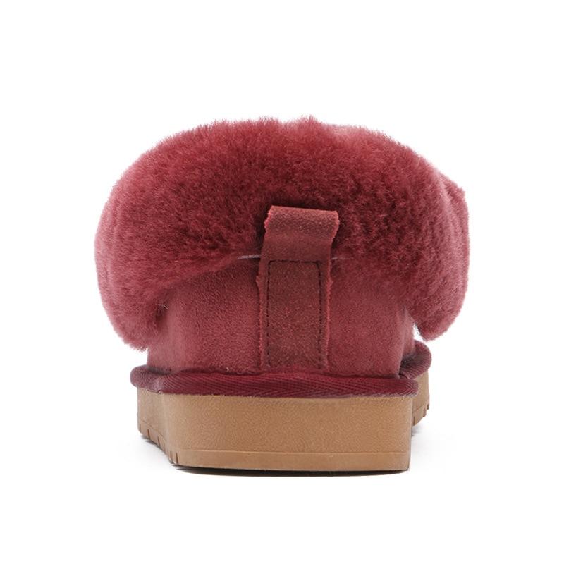 Nouveau Top qualité femmes mode bottes de neige en peau de mouton véritable femmes bottes chaud laine hiver chaussures 100% fourrure naturelle bottines-in Bottes de neige from Chaussures    3