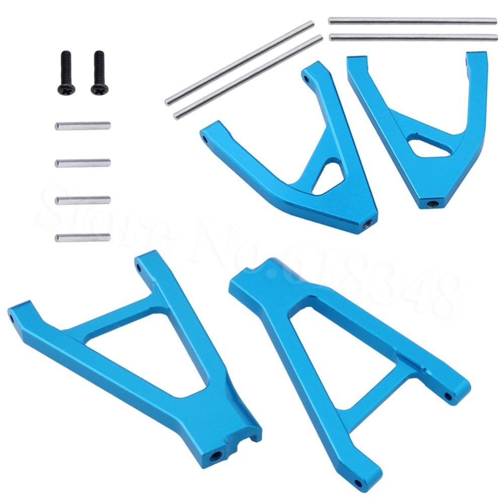 4pcs Aluminum Rear Suspension Arm Set Upper & Lower (L/R) For Traxxas 1/16 Slash 4WD RC Hobby Car 7032 Hop Up Parts Replacement