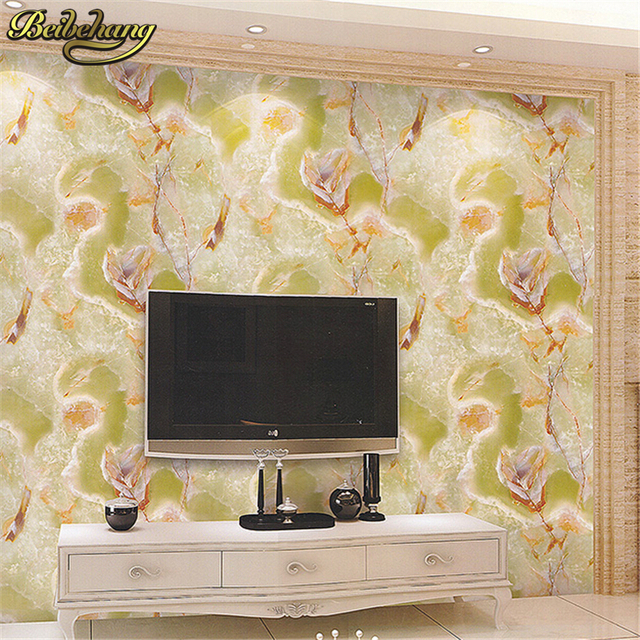 beibehang Pvc wallpaper marble design wall covering simple modern 3D ...
