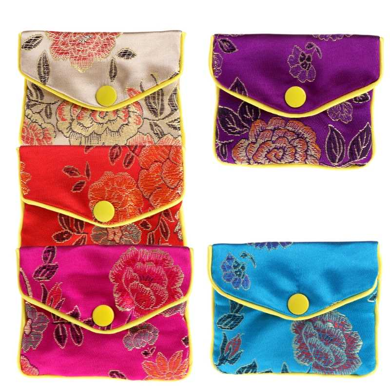 Drop&Wholesale Jewelry Storage Bags Silk Chinese Tradition Pouch Purse Gifts Jewels Organizer APR28
