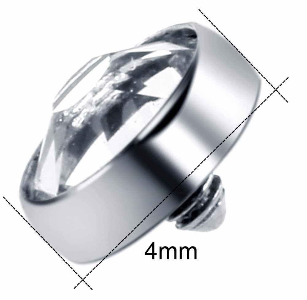 1 pc G23 טיטניום פירסינג מייקר Dermal פנינה מייקר Dermal פרסת קריסטל תכשיטי טבעות טבור טבור טבעת