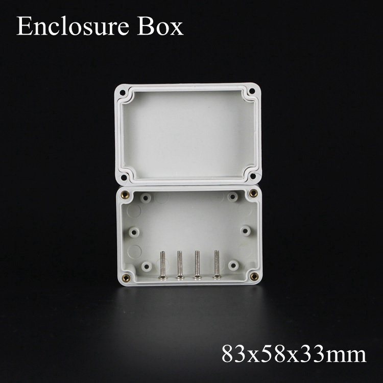 (1 piece/lot) 83*58*33mm Grey ABS Plastic IP65 Waterproof Enclosure PVC Junction Box Electronic Project Instrument Case waterproof abs plastic electronic box white case 6 size